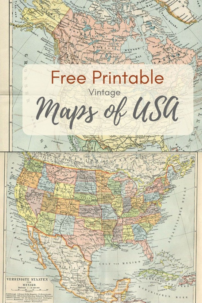 Wonderful Free Printable Vintage Maps To Download | Printables | Map - Printable Antique Maps