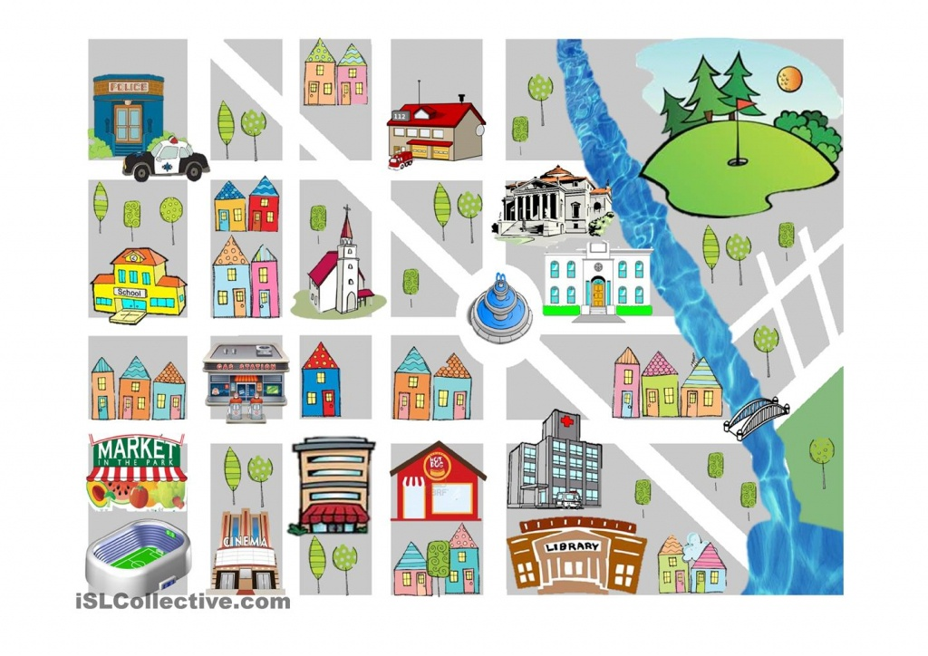 Worksheet : Prepositions Of Place Free Esl Worksheets Clipart - Community Map For Kids Printable