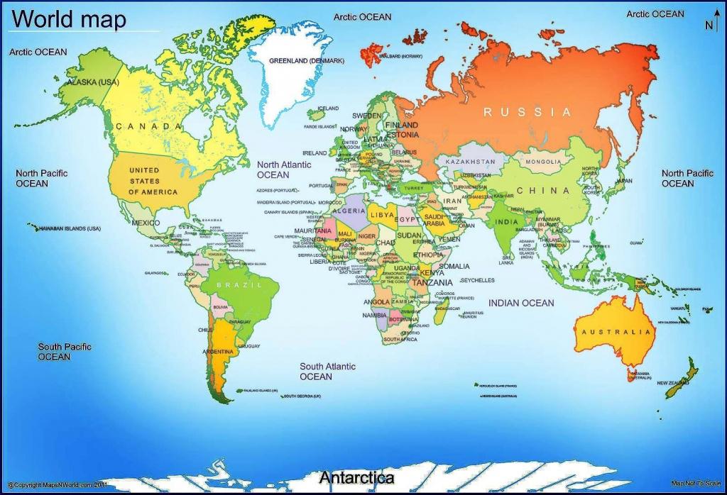 World Map - Free Large Images | Maps | World Map With Countries, Map - Free Printable World Map Images