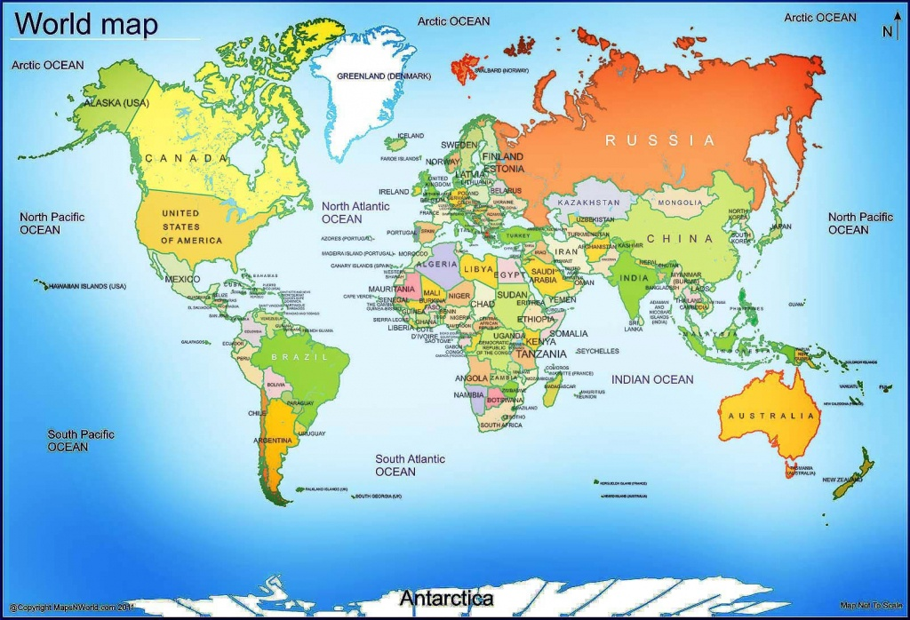 World Map - Free Large Images | Maps | World Map With Countries - Printable World Map