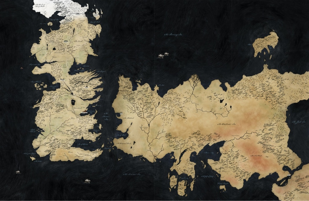 World Map (Hbo Game Of Thrones) - A Wiki Of Ice And Fire - Game Of Thrones Printable Map