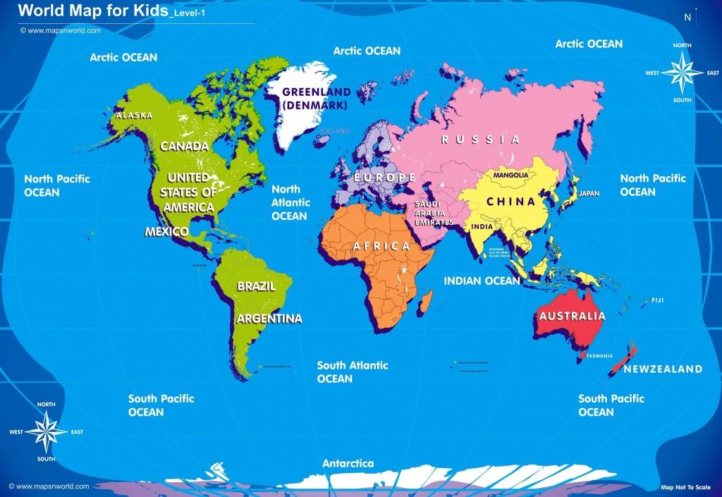 World Map Kids Printable - Kid Friendly World Map Printable