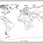 World Map Outline With Countries | World Map | Blank World Map, Map   Blackline World Map Printable Free