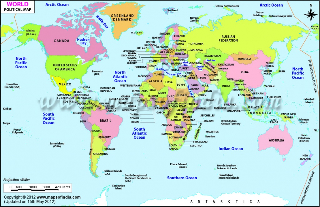 World Map Printable, Printable World Maps In Different Sizes - Free Printable Political World Map