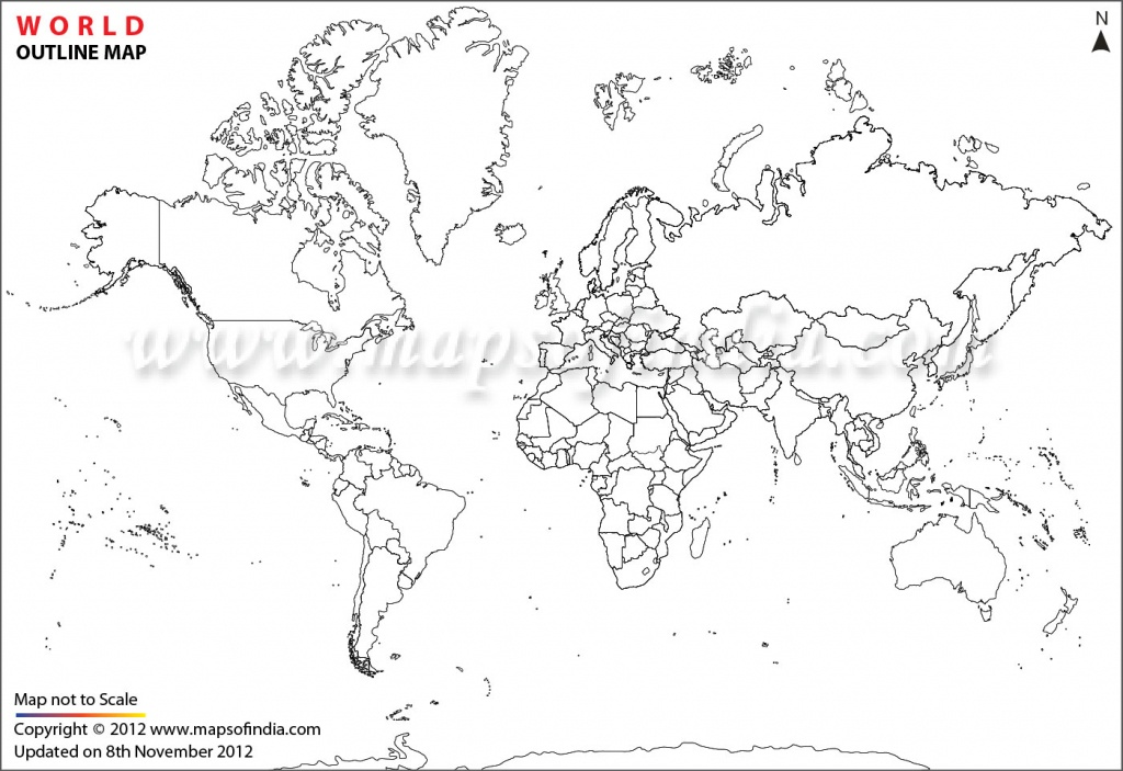 World Map Printable, Printable World Maps In Different Sizes - World Map Outline Printable