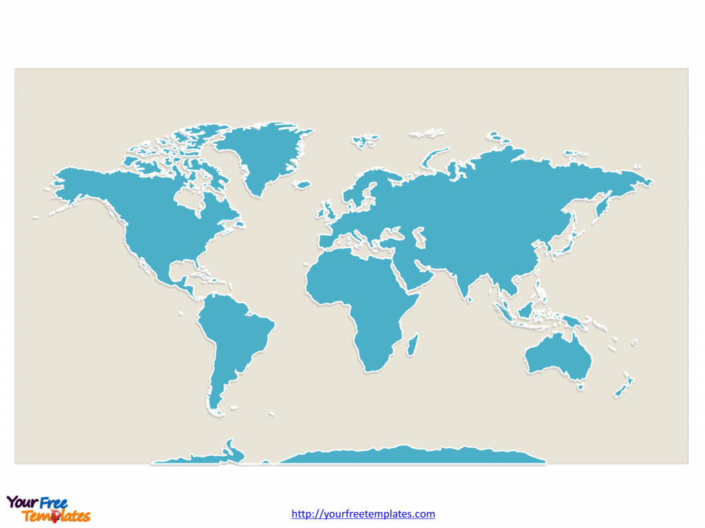 World Map With Continents - Free Powerpoint Templates - Large Printable World Map Labeled