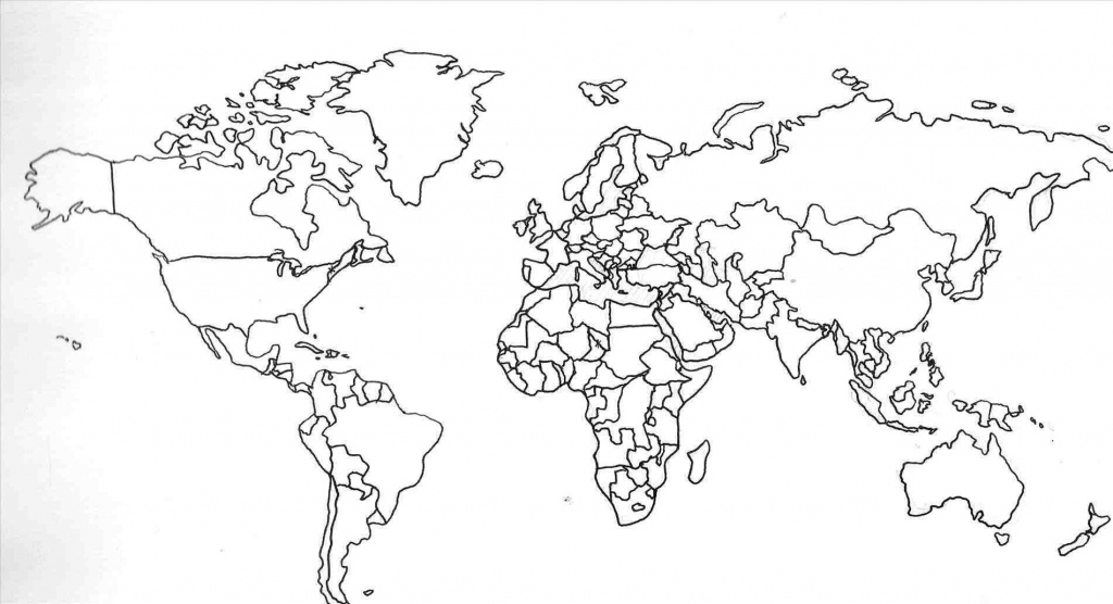 World Map With Country Names Printable And Travel Information - Printable World Map No Labels