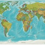 World Relief Map, Printable World Relief Map, World Physical Map   Printable Earth Map