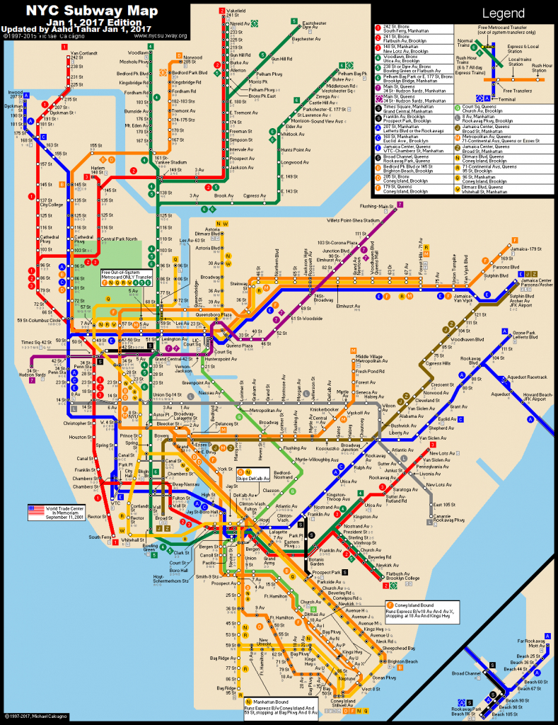 Www.nycsubway: New York City Subway Route Mapmichael - Printable Route Maps