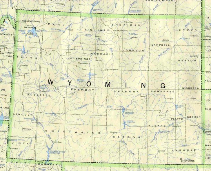 Printable Map Of Wyoming