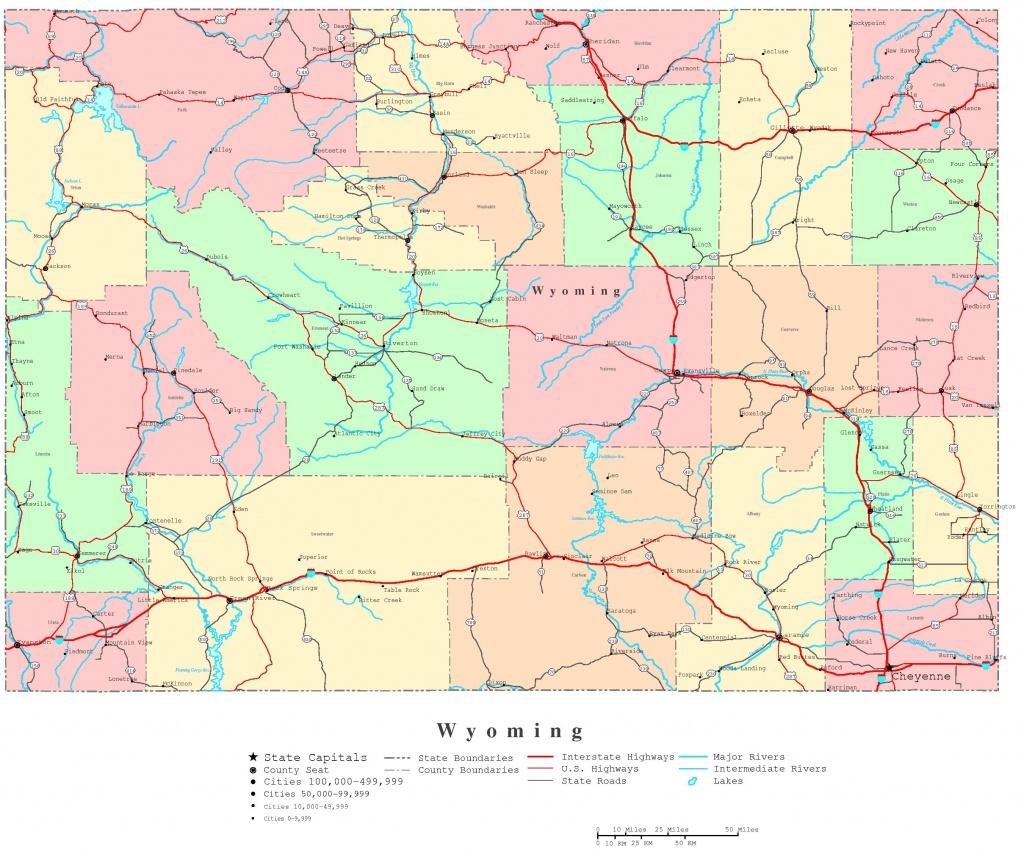Wyoming Printable Map - Printable Map Of Wyoming