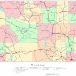 Wyoming Printable Map   Printable Road Map Of Wyoming