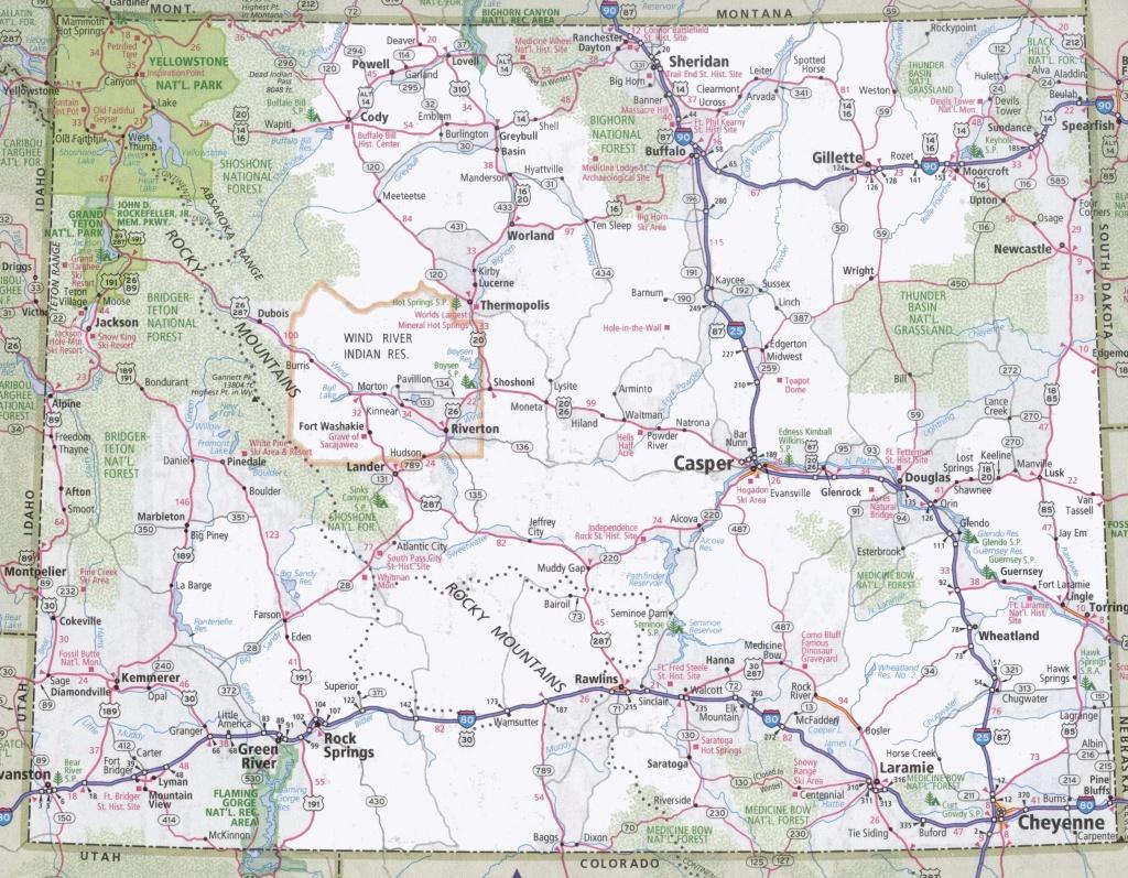 Wyoming Road Map - Wyoming State Map Printable