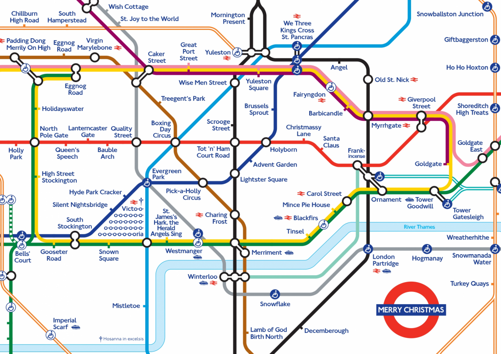 Xmas 20Map Random 2 London Underground Map Printable Throughout - Printable London Tube Map