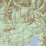 Yellowstone National Park Topo Map (Print Version) | Yellowstone Maps   Printable Topographic Map