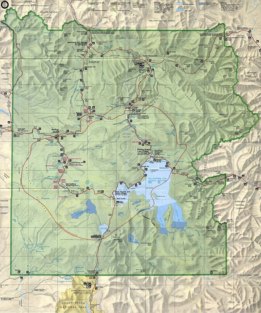 Yellowstone State Park | Park Map 1Mb Yellowstone National Park - Free Printable Map Of Yellowstone National Park
