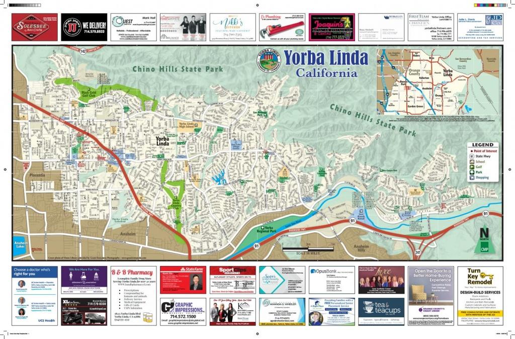 Yorba Linda California Street Map 2018Chamber Marketing Partners - California Street Map