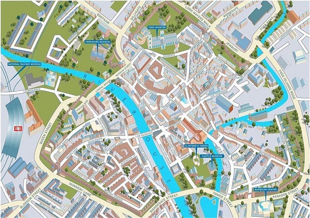 York Street Map 1000 Piece Jigsaw Puzzle Jhg - York Street Map Printable
