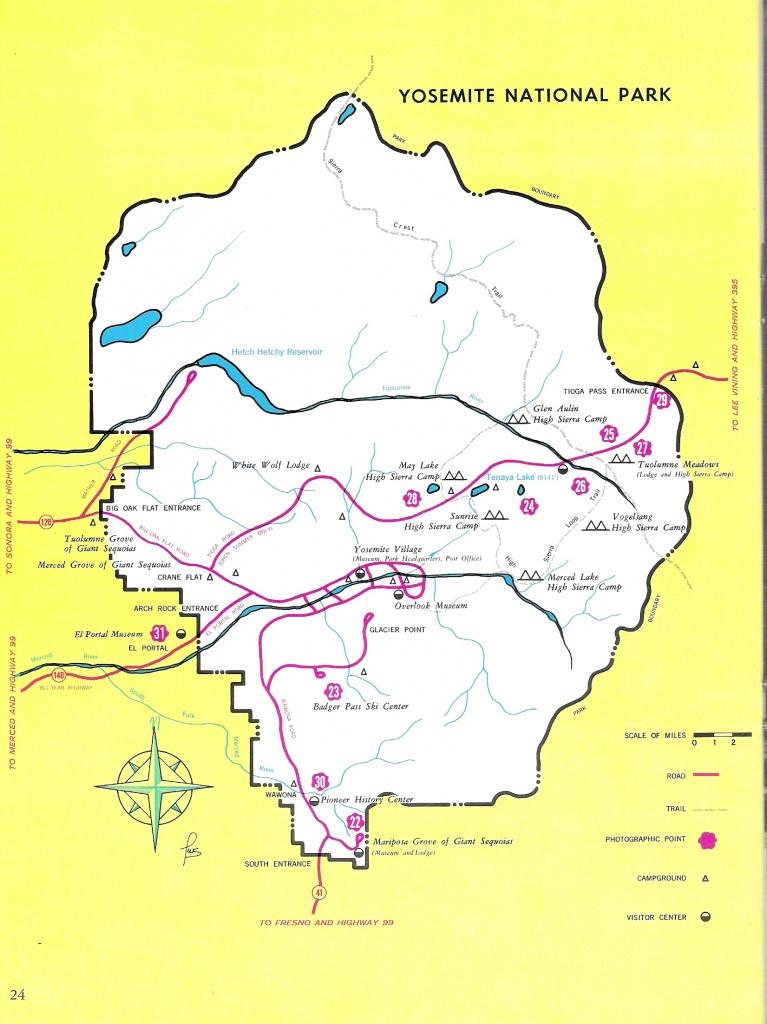 Yosemite Historic Maps (Yosemite Library Online) - Yosemite California Map