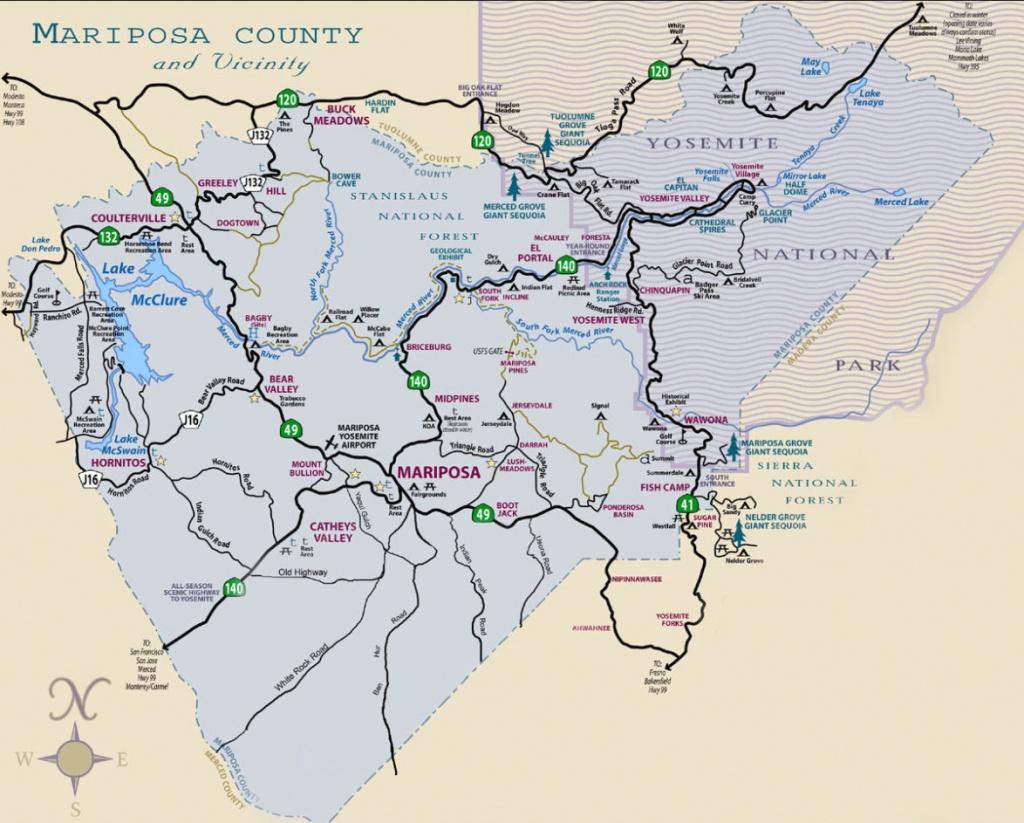 Yosemite Maps For Visitors | Discover Yosemite National Park - Highway 41 California Map