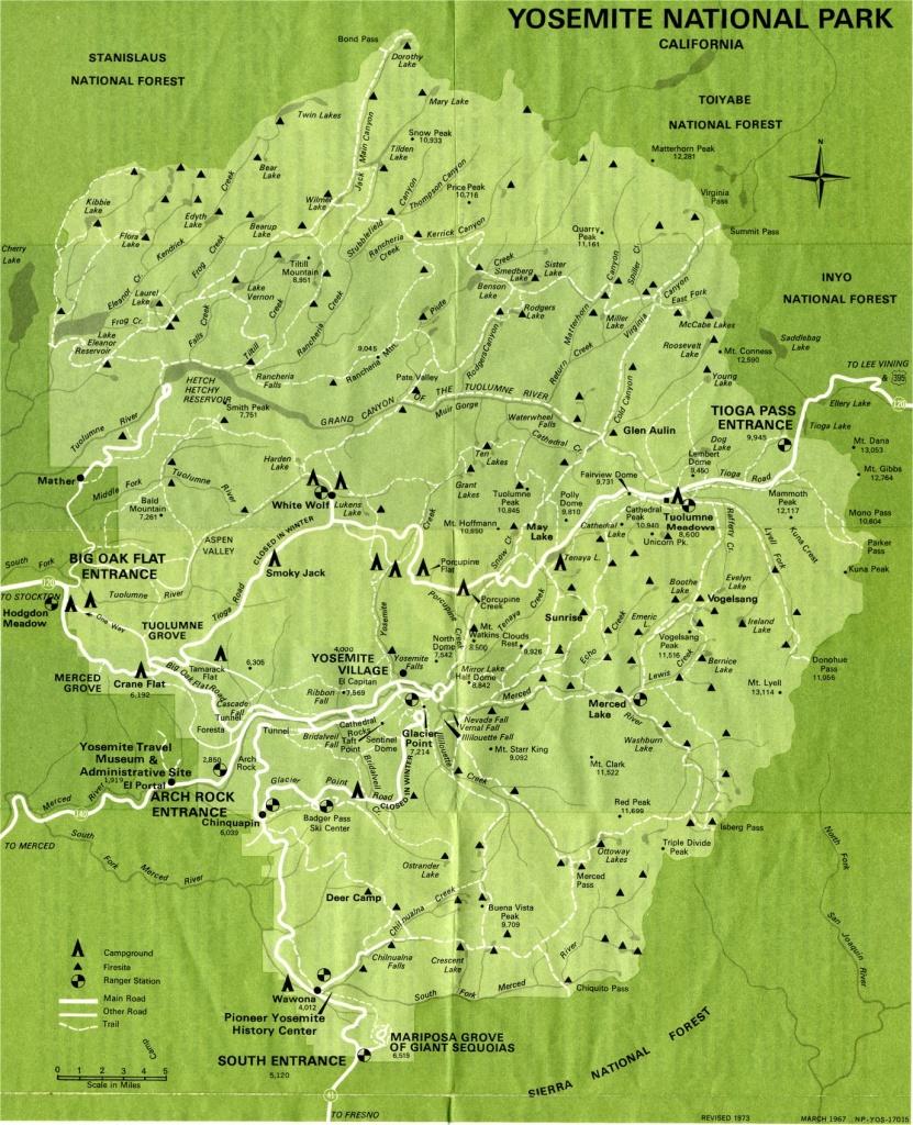 Yosemite National Park Map Detail Map Of Yosemite On California Map - Yosemite California Map