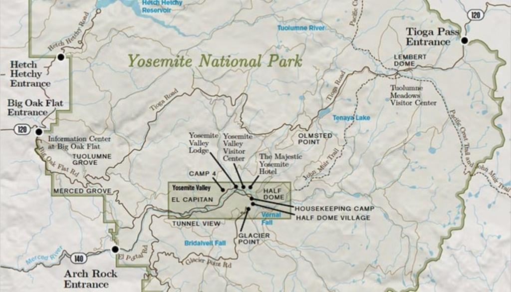 Yosemite National Park Overview Map - My Yosemite Park - Yosemite California Map