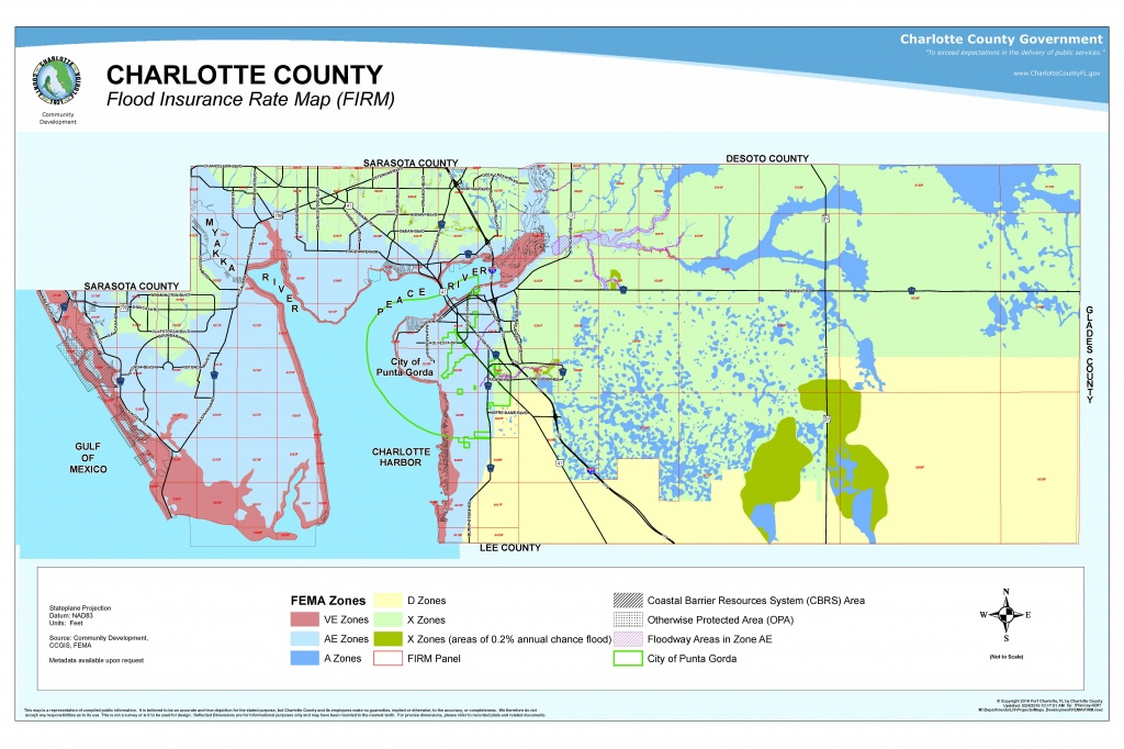Your Risk Of Flooding - Punta Gorda Florida Map