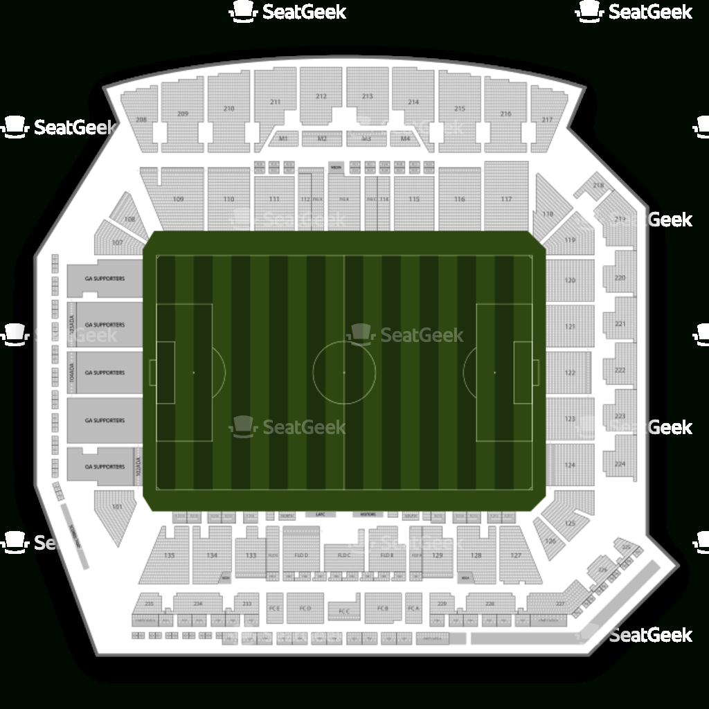 Your Ticket To Sports, Concerts & More   Seatgeek - Banc Of California Stadium Map