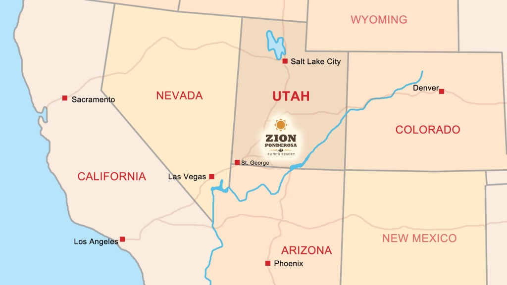 Zion Ponderosa Ranch Resort Location | Directions & Map - Northern California National Parks Map