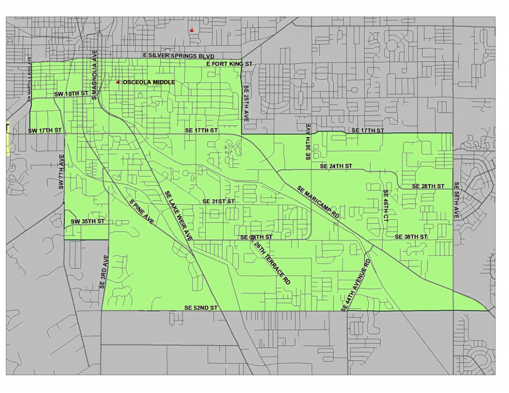 Zoning Boundary Map / Home - Osceola Middle School - Belleview Florida Map